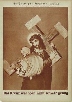 AIZ, nº 23, La cruz aún no pesaba suficiente, por John Heartfield.