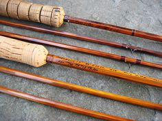 Paul Holden Young (1890-1960) rods Fly Fishing Gear, Fishing Tools, Paul Young, Bamboo Fly Rod, Rod And Reel, Fly Rods, Opening Day, Wood Turning, Metal Working