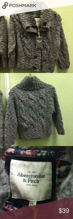 Abercrombie & Fitch sweater-New! Abercrombie & Fitch grey sweater with large buttons. New with tags! Size small. Abercrombie & Fitch Sweaters