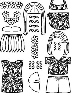 paper doll Pacific Island Friend clothes