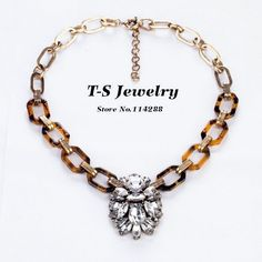 2013 Autumn Fashion Vintage Clear Crystal Rhinestone Pendant Statement Necklace Choker For Women Free Shipping Wholesale $12.30