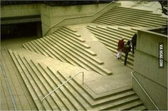 I love the design of these stairs and how they incorporate a wheelchair access ramp.