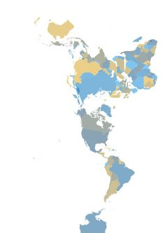buckminster fuller's dymaxion map & with coloured countries (sorry Antarctica!)