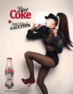 Gaultier having a coke
