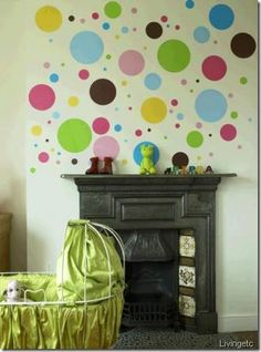 Might do bubble/polka dot theme with cute turtle accents since we can't find much turtle themed nursery things...