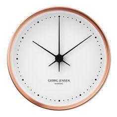 Georg Jensen Koppel wall clock in copper.