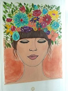 Check out this item in my Etsy shop https://www.etsy.com/listing/457862408/boho-woman-painting-gypsy-painting