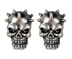 Spike Skull Stud Earrings - Collectible Dangle Jewelry Accessory Summit. $7.44. Save 61% Off!