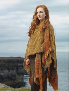 Lambswool celtic ruana wrap, Irish Ruana | Aran sweater market