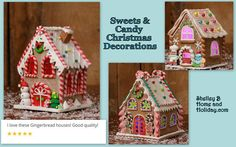 Our customers love our Christmas Candy and Gingerbread House decorations!  See the collection here  http://shelleybhomeandholiday.com/shop-by-theme/candy-and-sweets-christmas-decorations/