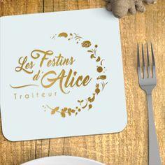 """Création du logo """"Les Festins d'Alice"""", traiteur naturel.  @soniasalez  #miam #mariage #atelierculinaire"""
