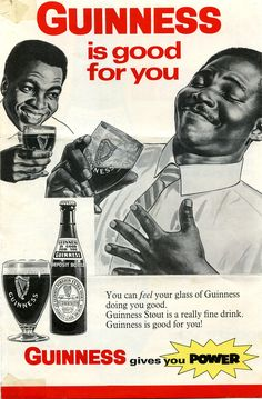 """""""Guinness is good for you"""" - 1968 ad for Guinness Stout : vintageads"""