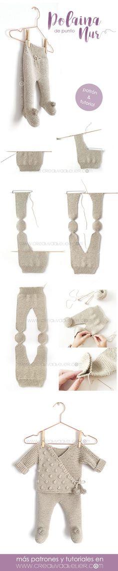 Polaina de punto NUR – Tutorial y Patrón – - Punto a dos agujas babysachen anleitungen Knitting For Kids, Baby Knitting Patterns, Crochet Patterns, Style Baby, Knitted Baby Clothes, Baby Kind, Baby Baby, Diy Baby Gifts, Knitted Dolls