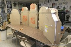 Amazing - how to make tombstones from cardboard, foam and paper maiche. Full instructions on how to do. Halloween Prop, Scary Halloween Decorations, Halloween Haunted Houses, Halloween Birthday, Halloween Projects, Halloween Party Decor, Holidays Halloween, Homemade Halloween, Diy Halloween Tombstones