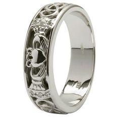 celtic rings wedding claudaugh