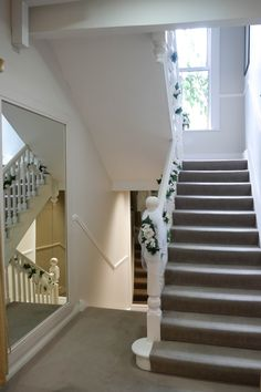 Gorgeous Light Coming Down The Stairwell #bridal #shop #store #light #airy