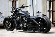 A classic Harley Davidson customized.