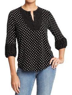 mixed-dots blouse | old navy