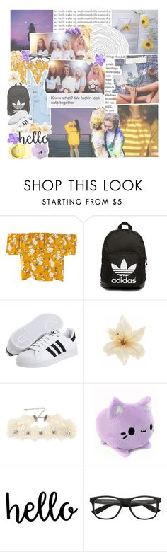"""""""♡ won't you hold me tonight again, under silent skies"""" by tightrope-of-weird ❤ liked on Polyvore featuring adidas Originals, Prada, Clips and Decree"""