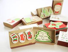 Kies elke 5 Matchbox-kerstkaarten / kerstkaarten / unieke