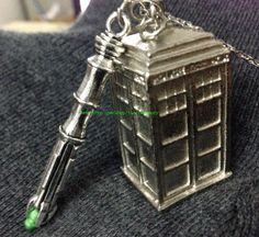 Sonic+Screwdriver+necklace+antique+silver+3D+by+toaccomemory,+$6.50