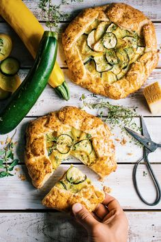 zucchini and goat cheese galettes. | @andwhatelse