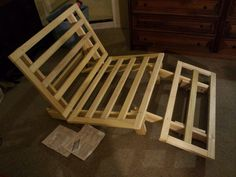 DIY WOODEN FOLDUP BED FRAME | Kun Kun trying out the wooden slate . He just could not wait.