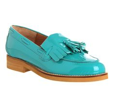 Office Extravaganza Loafer Turquoise Patent Leather - Flats
