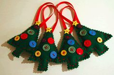 Tree- felt and buttons