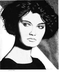 Pen & Ink Drawing, A4 - Female Portrait #4 by PetesPiccies on Etsy