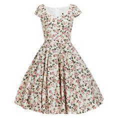 Whimsical 1950s Dress Dress Vintage Inspired Dress Floral Bridesmaid Dress Summer Dress Rockabilly Dress Pin Up Dress Party Dress Prom Dress