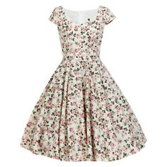 Whimsical 1950s Dress Dress Vintage Inspired Dress Floral Bridesmaid Dress Summer Dress Rockabilly Dress Pin Up Dress Party Dress Prom Dress