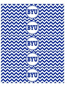 byu water bottle labels.  BYU and chevron......awesome
