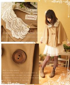 Rakuten: Rakuten ranking wins a prize [from reentry load ♪ October 23 11:00] (camel). The dolman sleeve that the forest girl design poncho coat with a collar lace doing an everyday living in particular is stylish. To a haori thing with しっかりめの cloth in the fall and winter (email service impossibility)- Shopping Japanese products from Japan