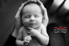 Little Sophia, new Born portrait , daddy's hands