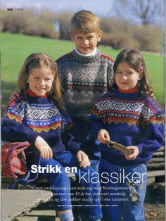 Multi-colored Marius sweater (pattern in Norwegian but with charts) Knitting For Kids, Baby Knitting, Knitted Baby, Norwegian Knitting Designs, Knitting Patterns, Crochet Patterns, Nordic Sweater, Hobbies And Crafts, Picnic Blanket