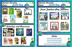 Ideas for teaching about Earth Day, ecology, and recycling. Links for books, recycled art, teaching products, video links and more!Thematic Thursday - Make Every Day Earth Day!
