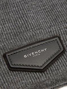 Logo-patch wool-blend beanie hat | Givenchy | MATCHESFASHION.COM UK