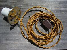 Mason Jar Swag Light Kit Vintage Style Cloth Cord with by Khalima - Modern Streetwear, Vintage Style, Vintage Fashion, Basement Lighting, Swag Light, Mason Jar Lighting, Outdoor Lighting, Cord, Mason Jars