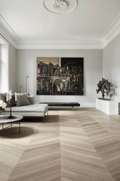 The latest in Minimalist interior design. See what perfect minimalist interior design looks like with these inspiring examples. Living Room Scandinavian, Living Room Interior, Luxury Home Decor, Luxury Interior, Contemporary Living Room, Trending Decor, Interior Design, Floor Design, House Interior