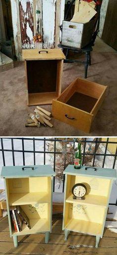 Zobacz zdjęcie Pomysł na odnowione szafeczki ze starych szuflad :) w pełnej rozdzielczości