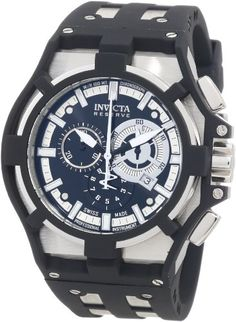 Invicta Men's 0636 Akula II Reserve Chronograph Black Dial Black Polyurethane Watch Invicta http://www.amazon.com/dp/B006DI5HWE/ref=cm_sw_r_pi_dp_-J1Kub147Y5TT