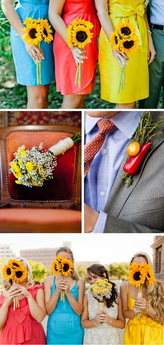 Farm fresh! Some bold & and unusual details in this Farmers Market Themed Wedding