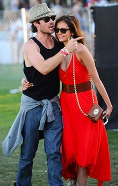 Ian Somerhadler  and Nina Dobrev @ Coachella Festival