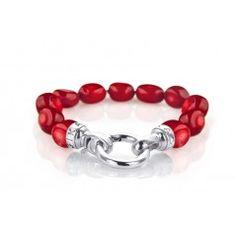 RED HOT BRACELET #July #Ruby #Red #PreciouMetals #Kagi