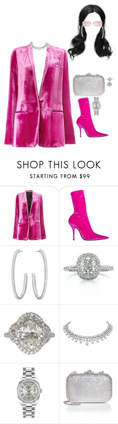 """Out in NY"" by nytown ❤ liked on Polyvore featuring Haider Ackermann, Balenciaga, Swarovski, Mark Broumand, Rolex, Judith Leiber and Chanel"