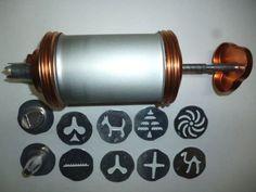 Vintage Mirro 358-AM Copper & Aluminum Cookie-Pastry Press 3 Tips 8 Discs #Mirro