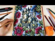 Lantern - Part 1 | How I Color Lantern | Magical Delights Coloring Book by Klara Markova - YouTube