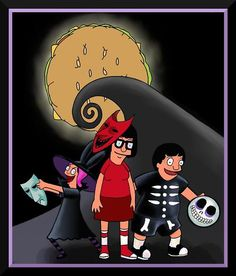 I'd like to see a parody/tribute episode of Bob's Burgers doing The Nightmare Before Christmas. Bob's Burgers Halloween, Bobs Burgers Wallpaper, Bobs Burgers Memes, What About Bob, Bob S, Cartoon Shows, Cartoon Fun, My Spirit Animal, Jack Skellington