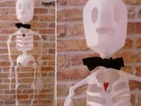 Craft a spooky milk jug skeleton